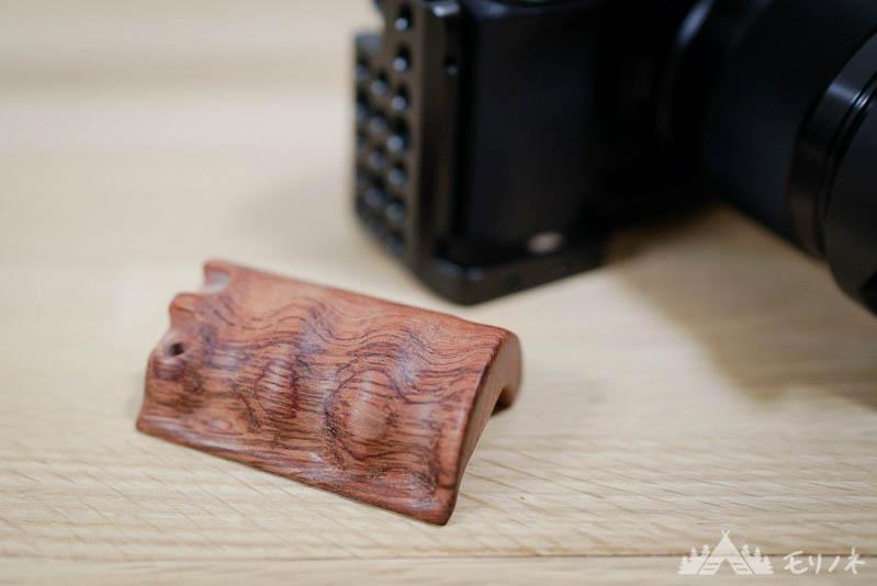 α6300にsmallrig 木製グリップ