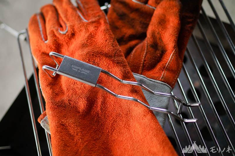 耐熱グローブと焼き網ハンドル