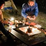 焚き火台と囲炉裏テーブル