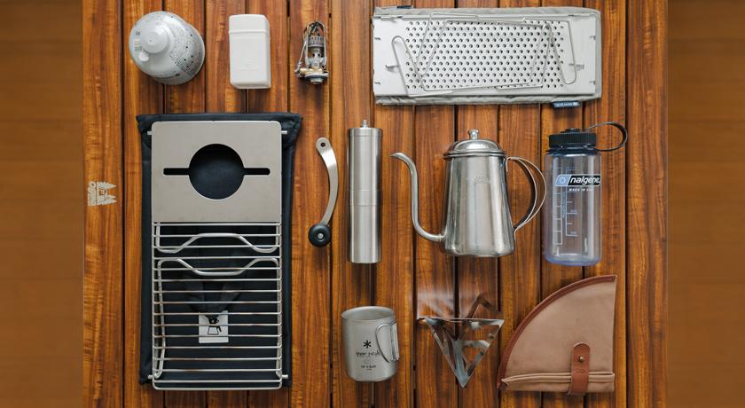 アウトドアコーヒー道具
