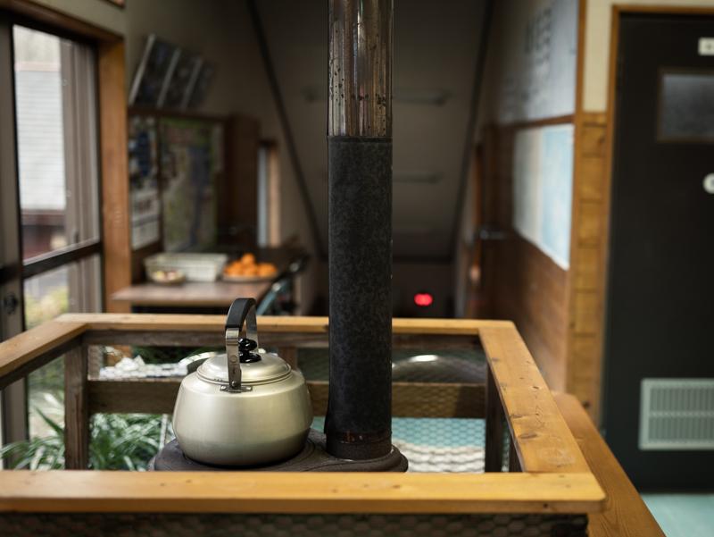 藤河内湯〜とぴあにある薪ストーブ
